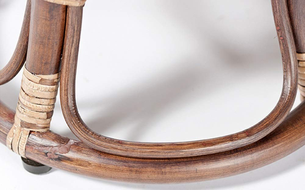 AO-stools Rattan Short Drum Stool Home Small Stool Dressing Stool Ottoman Laundry Stool 42x36cm by AO (Image #4)