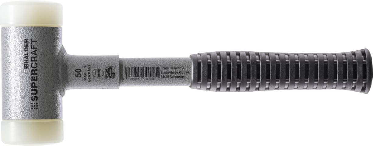 rutschsicherem Griff /Ø=60 mm SUPERCRAFT-Schonh/ämmer mit bruchsicherem Stahlrohrstiel und ergonomisch geformtem 3377.060