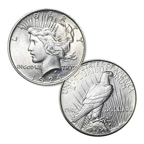 (1924 P Peace Silver Dollar $1 Brilliant Uncirculated)