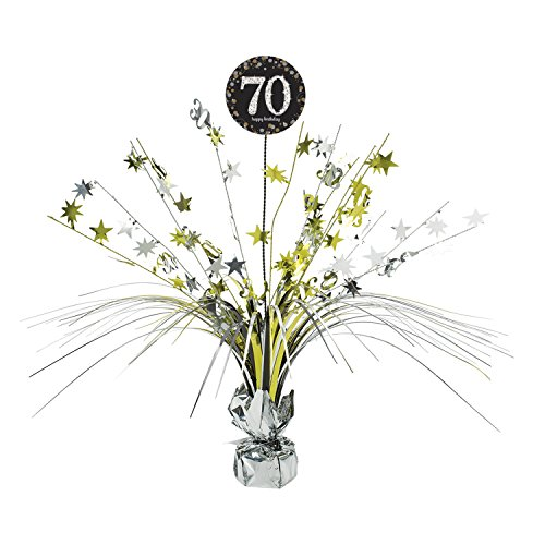 Amscan Sparkling Celebration 70 Spray Centerpiece, Party Dec