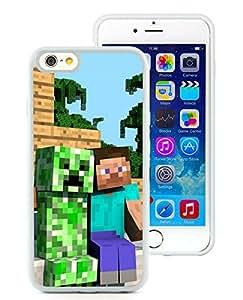 Minecraft 30 White iPhone 6 4.7 inch Screen TPU Phone Case Genuine and Custom Design