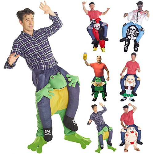 Morphsuits Men's Frog Piggyback Costume Adult, Green, One Size (Piggy Costumes)