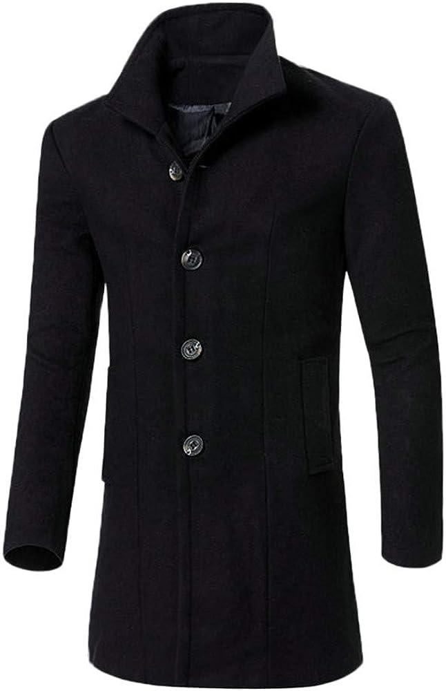 Sallydream- Chaqueta Hombre Invierno Largo Rebajas Moto Abrigo Cazadoras Elegante Moda Casual Outwear