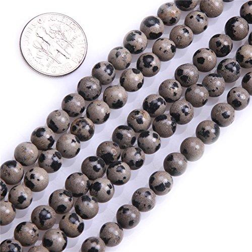 6mm Round Dalmatian Jasper Beads Strand 15 Inch Jewelry Making Beads