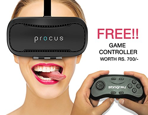 Procus BRAT VR (With Controller) Virtual Reality Headset – 42MM Lenses- Fully Adjustable VR Glasses