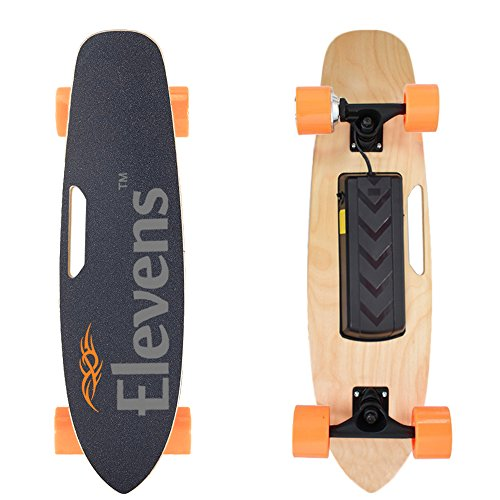 "Price comparison product image 28"" Electric Longboard Skateboard Bluetooth Remote Control 120w Hub Motor with Carrying Bag"