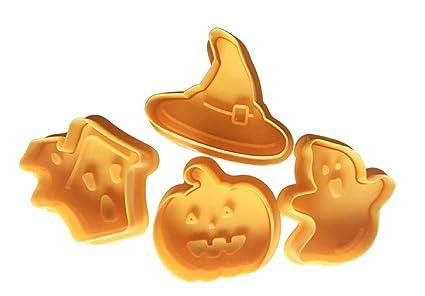 WESEEDOO Biscotti Fresa Pistone Primavera Stampa Muffa per Halloween  Decorazione 4pcs  Amazon.it  Casa e cucina ba627ac96998