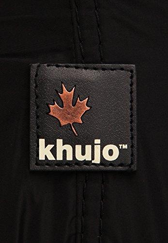 KHUJO Rebell - Herren Herbst-/Übergangsjacke - Schwarz XL