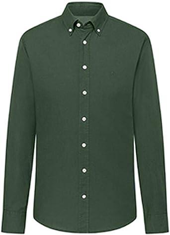 Hackett London GMT Dye Oxford BS Camisa para Hombre: Amazon.es: Ropa y accesorios