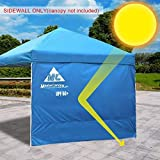 MASTERCANOPY Sunshield Side Wall Instantly Attaches to Any 10x10ft Straight Leg Pop Up Instant Canopy Tent(10ft, Blue) For Sale