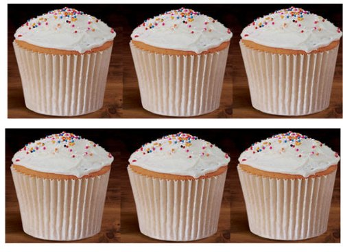Amazon.com: 100 White Large Jumbo Texas Muffin / Cupcake Cups White Flutted Cupcake  Liners Baking Cups: Toys U0026 Games