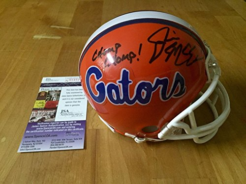 Jim McElwain Signed Florida Gators Mini Helmet Chomp Chomp! Coa - JSA Certified - Autographed College Mini Helmets