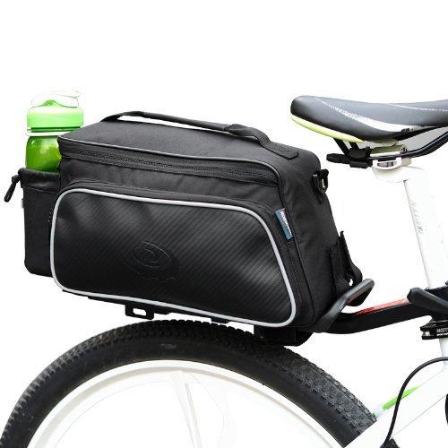 Black Multi functional Bicycle Rear Seat Trunk Bag Shoulder Handbag Bag by Roswheel