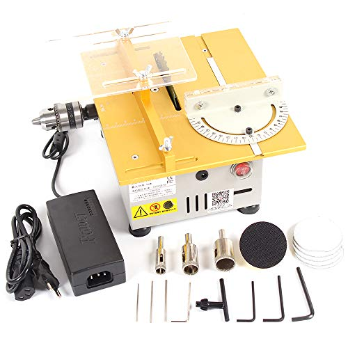 Multifunction Mini Table Saw Handmade Woodworking Bench Lathe Electric Polisher Grinder Cutting ()