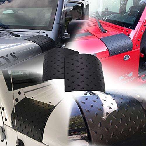 Yoursme Cowl Body Armor Cowling Cover Protector Fits for Jeep Wrangler JK JKU Rubicon Sahara 2007-2018 (pack of 2)