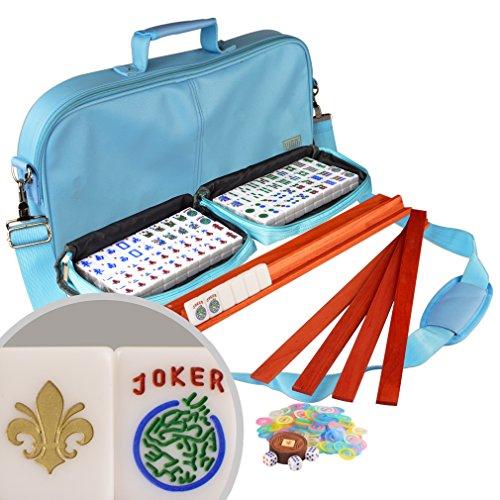 """""""Fleur de Lis"""" American Mahjong Set in Leatherette Case w..."""
