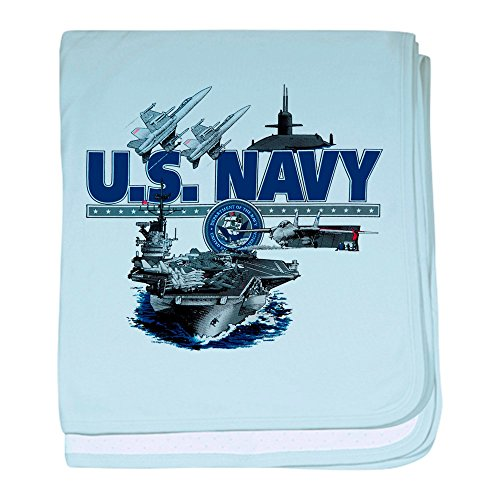- Royal Lion Baby Blanket US Navy Aircraft Carrier Planes - Sky Blue