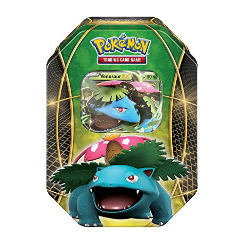 Pokémon POK14FLTINGRN Power Trio Tin- Venusair-EX, Lb, Green