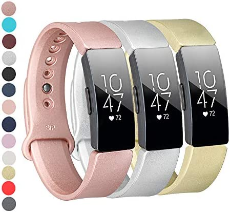 Tkasing CompatibleFitbit Inspire/Inspire HR BandSoft Silicone Strap Replacement Wristband Replacement for Fitbit Inspire HR