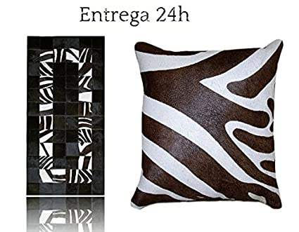 Tappeto Pelle Mucca Patchwork Zebra + 1 cuscino Cow Hide + 1 Pillow ...