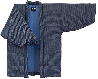 WATANOSATO Lattice pattern Hanten (Made in Japan Kimono-style) Mens Size