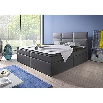 Home Collection24 GmbH Cama con somier (180 x 200 cm, con núcleo de muelles Bonell Colchón Topper en H3 Negro Hotel Cama Doble con cajones: Amazon.es: Hogar