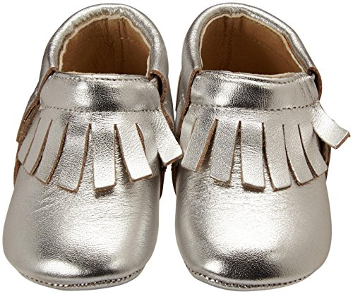 Infant Toddler Soles Fringe Boot Old Slip Child Unisex Silver On 08wndq