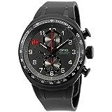 Oris Mens grey dial, silicone bracelet watch 77476117784RSXG (Certified Refurbished)