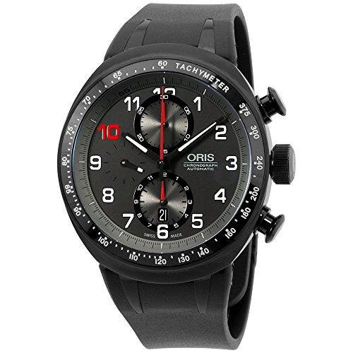 Oris-Mens-grey-dial-silicone-bracelet-watch-77476117784RSXG-Certified-Refurbished