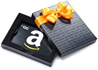Amazon.com $100 Gift Card in a Black Gift Box (Classic Black Card Design)