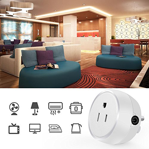 Guxen Mini Wifi Smart Plug Compatible with Alexa,Google Home Mini,No Hub Required, Remote Control by Cellphone App with Timing Function (White 2 Pack) by Guxen (Image #4)