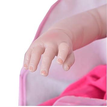 Muñecos Bebé 57 Cm Reborn Baby Suave De Vinilo De Silicona Muñecas ...