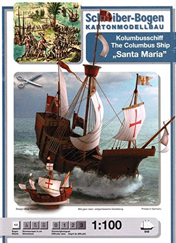 (Schreiber-Bogen Santa Maria Columbus Ship Card Model)