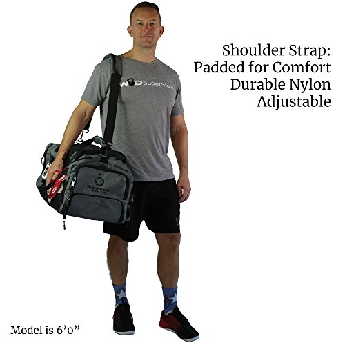 bf75d6e40e8ba1 ... WODSuperStore Rigor Gear Large Crossfit Workout Duffle Bag with Shoe  Compartment, Wet Dry Pouch,