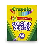 Crayola Mini Colored Pencils in Assorted Colors, Coloring Supplies for Kids, 64ct