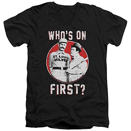 con Costello V hombre cuello La Abbott primera en camiseta negro para pFw7Zpq