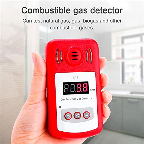 Aolvo Propane/Natural Gas Detector, Portable Handheld Combustion Gas Leak Detector Tester with Sound Alarm and Digital Display, Monitor Explosive Gas : Methane, Butane, LPG, LNG - Battery Powered by Aolvo
