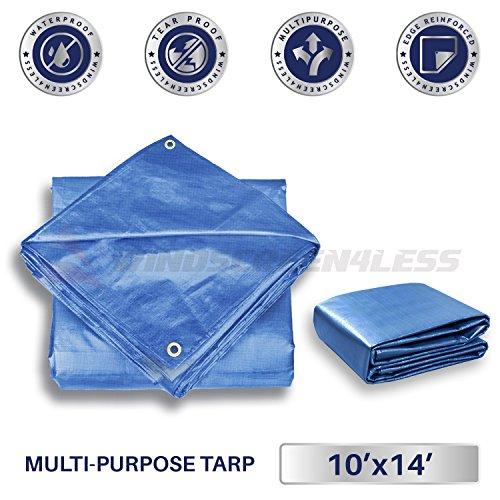 10' Blue Poly Tarp - 5