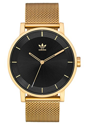 (adidas Watches District_M1. Milanese Stainless Steel Bracelet, 20mm Width (Gold/Black Sunray. 40 mm).)