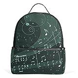 JSTEL Music Notes School Backpacks for Boys Girls Bookbag