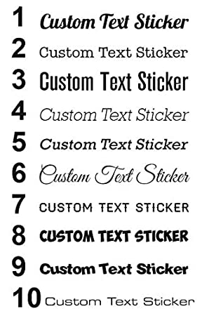 CUSTOM NAME Personalised Text Lettering Car,Window,Laptop Vinyl Decal Sticker