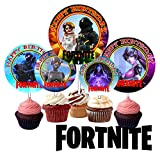 Crafting Mania LLC. 12 Fortnite Birthday Inspired Party Picks, Cupcake Picks, Cupcake Toppers #1