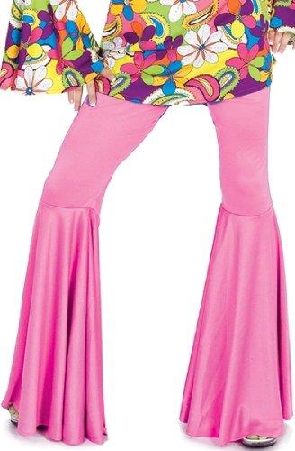 Pink Hippie Disco Bell Bottom Halloween Costume Pants L Womens US Large -