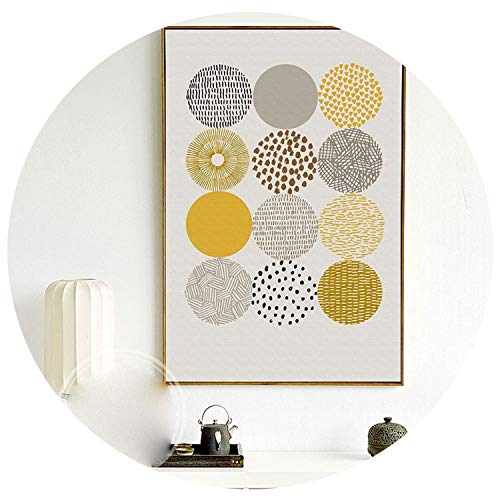 Abstract Geometric Canvas Paintings Nordic Scandinavian Posters Prints Wall Art Oil Pictures for Living Room Home Decor Unframed,40X50 No Frame,C
