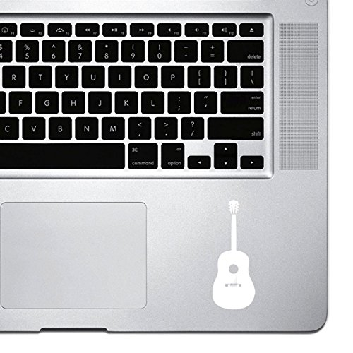 Acoustic Guitar Sticker for Macbook Pro, Chromebook, and Laptops (White) ()
