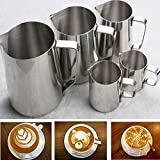 Myvision Stainless Steel Milk Pitcher Suitable for Coffee, Latte & Frothing Milk (5 Ounce/150ML)