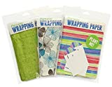 Blooming Plantables Plantable Wrapping Paper - 3 Pack - Aloe/Floral/Stripes
