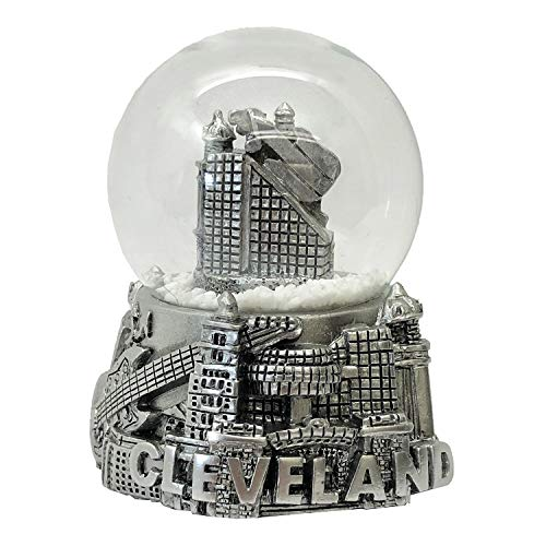 CityDreamShop Cleveland Snow Globe Etched Glass Showpiece Perfect Souvenir Gift Collection for Home Decor
