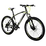 EUROBIKE EURX1 Mountain Bikes 21 Speed MTB Bicycle 26 Inch Wheels Suspension Fork MTB Bicycle