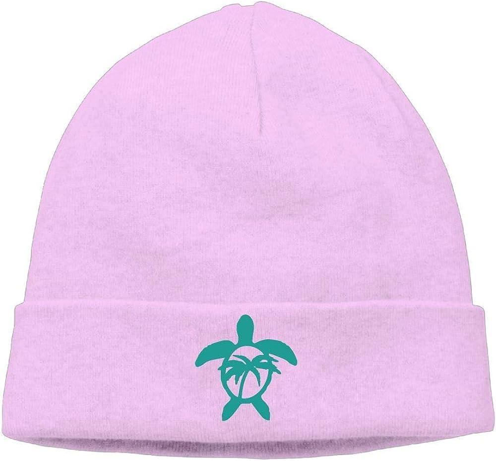 09/&JGJG Hawaiian Palm Tree and Sea Turtle Men and Women Knit Beanie Cap Winter Warm Knitting Hats